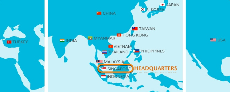 SCS Global Network is over 15 countries. We cover Singapore, Japan, Hong Kong, Philippines, Indonesia, Malaysia, China, USA, Vietnam, Thailand, Korea, Turkey, Myanmar, India and Taiwan